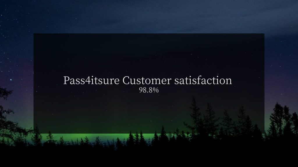 Pass4itsure Customer satisfaction 98.8%