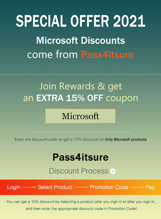 Pass4itsure Microsoft PL-900 exam coupon code